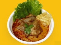 Pork Cutlet in Tom Yum Spicy Marination Noodle from Crazy Noodle