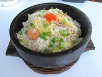 Fried Rice with Crab Roe and Seafood in Stone Pot  from Yung's Shanghai Kitchen