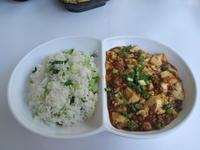 Rice with Mapo Tofu from Yung's Shanghai Kitchen