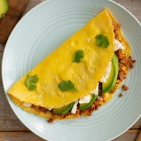 Cheese Omlette with Avocado and Ham from Paleo Taste