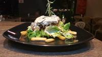 Char-Grilled Chicken in Mushroom Sauce - Westinn hawker stall from Westinn