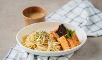 Grilled Salmon Pasta from Island Kitchen Collective