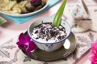 black glutinous rice dessert with coconut milk - Chilli Manis Catering from Chilli Manis Catering
