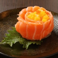 Salmon and Mango Sushi from Tsukiji Central
