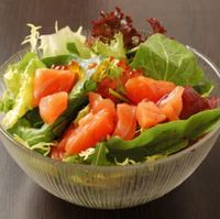 Salmon Roe with Salmon Salad from Tsukiji Central