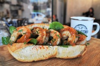 Grilled Prawn Baguette with Cocktail Dressing from Proper Kitchen