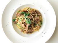 Beef Aglio Olio from NOM - Bistro & Bakery