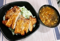 Pork Rib with Vegetable Rice & Hot and Sour Soup from South and North Restaurant