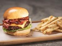 Applewood Smoked Bacon Cheeseburger Combo Meal from Omakase Burger