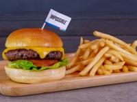 Omakase Cheeseburger Combo Meal from Omakase Burger