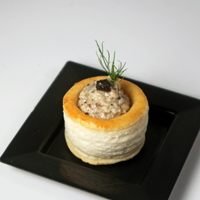 Baked Mushroom and Black Truffle Vol-Au-Vent from U Catering