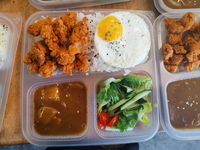 Popcorn Chicken Jap Curry Bento from Lazy Japanese Catering