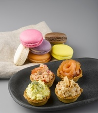 Assorted Macarons and Tart Canapes - <Delifrance> Catering Photo from Delifrance