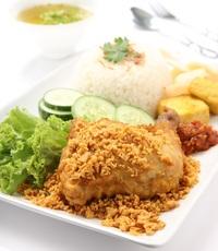 Ayam Penyet from Gado & Grill