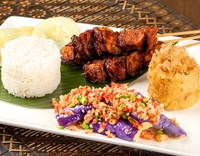 Lunch set rice with chicken skewers - Pagi Sore from Pagi Sore