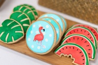 Customized Topical Flamingo Cookie from La Bonnie Patisserie