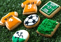 Customized Soccer Day Cookies from La Bonnie Patisserie