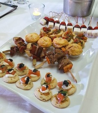 Plated Mixed International Themed Finger Foods from Shamrock Catering