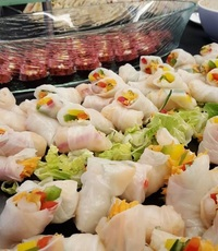 Summer Asian Fresh Shrimp Rice Paper Rolls from Shamrock Catering