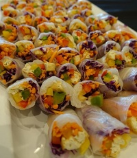 Asian Tofu Summer Rice Paper Roll from Shamrock Catering