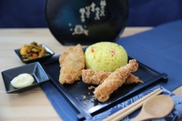Ebi and Fried Fish with Pineapple Rice from Evil Gourmet