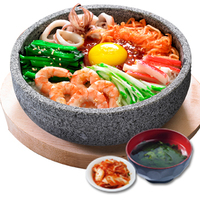 Hot Stone Seafood Bibimbap - Zhen Wei Korean Cuisine from Zhen Wei Korean Cuisine