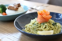 Spinach Salmon Pasta from Bread & Bistro
