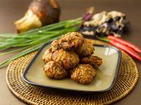 Handmade yam meatball from Shenton Hakka Yong Tau Foo