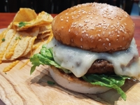 Melted Cheese Beef Burger from Seattle Pike Chowder