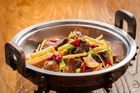 Sautéed Sizzling Spare Ribs with Celery Head from Sichuan House